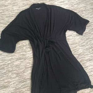DKNY Black 2X Modal Robe